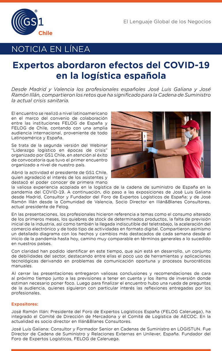 efectos covid logistica española